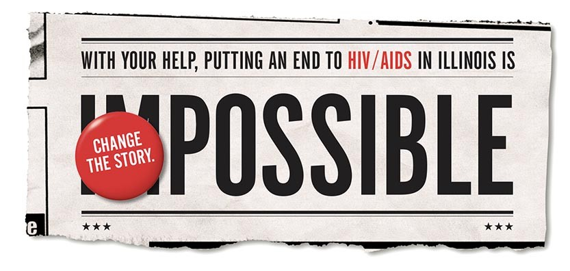 AIDS Foundation of Chicago Illinois Impossible ad