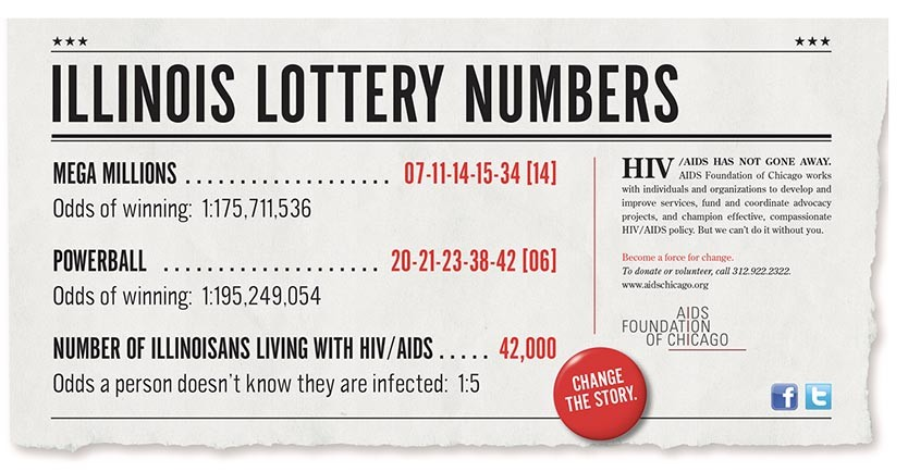 AIDS Foundation of Chicago Illinois Lottery Numbers