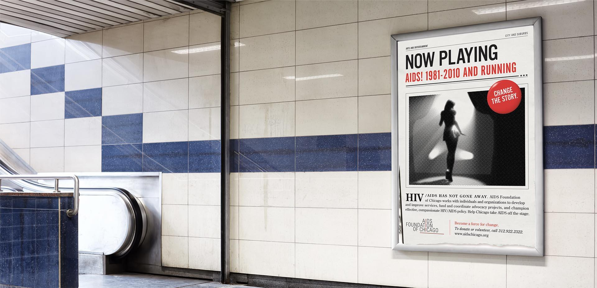 Changing the story about HIV / AIDS subway stairs ad