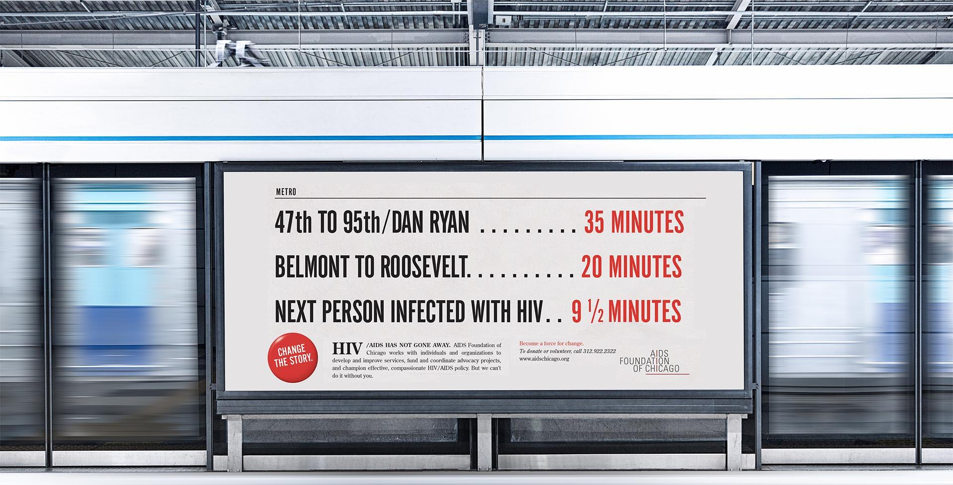 Changing the story about HIV / AIDS subway ad 2