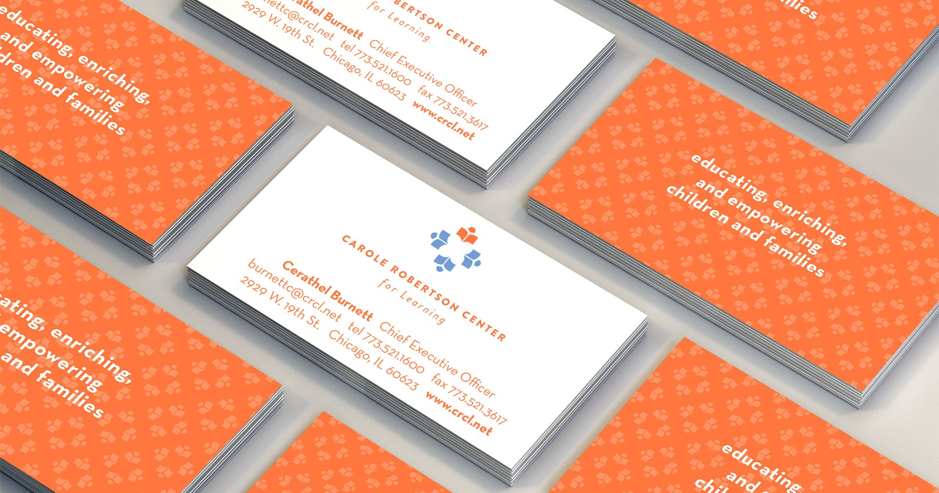Carole Robertson Center for Learning business cards