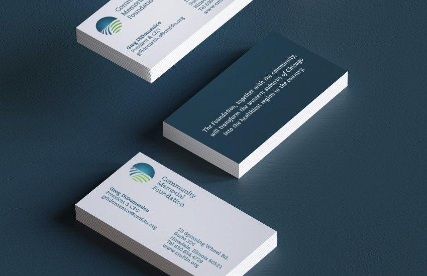 Community Memorial Foundation business cards