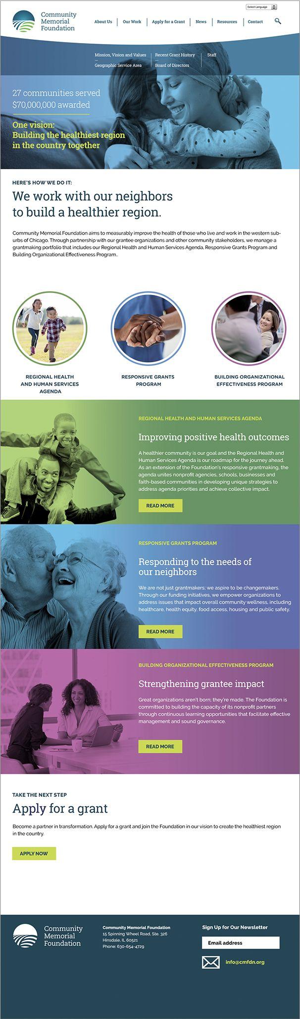 Community Memorial Foundation website 1