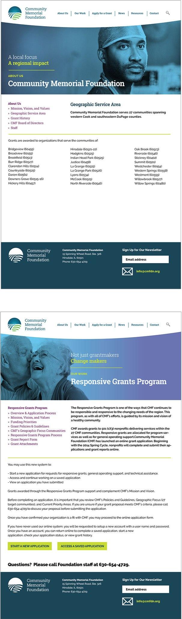 Community Memorial Foundation website 2