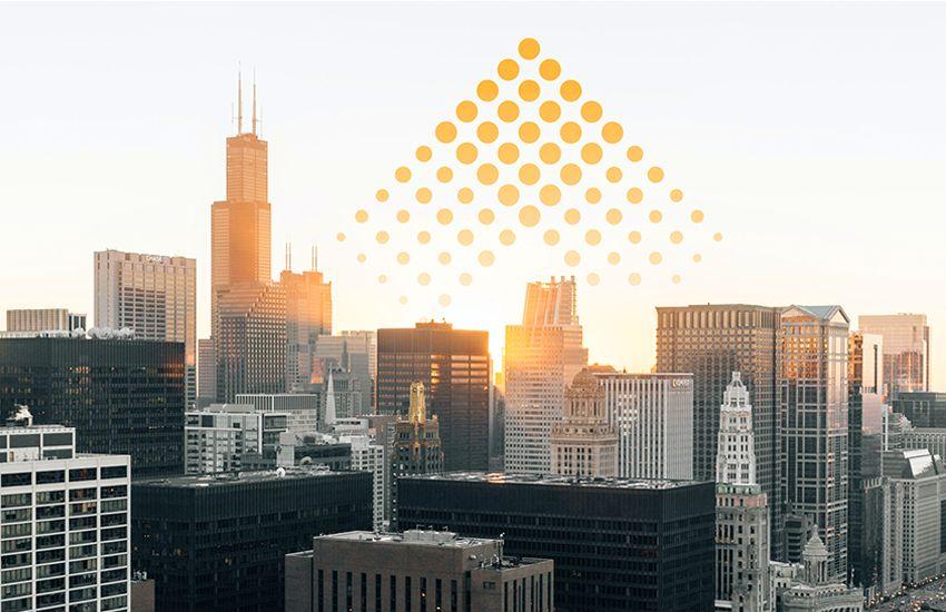 Chicago skyline with Elevate Energy mark