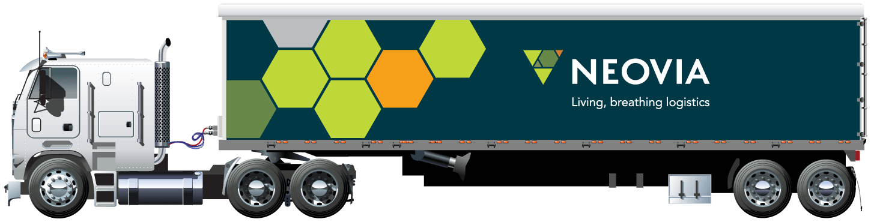 Neovia blue truck