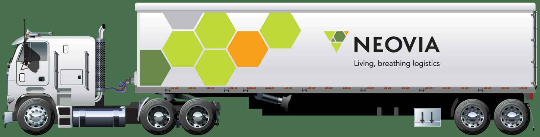 Neovia white truck