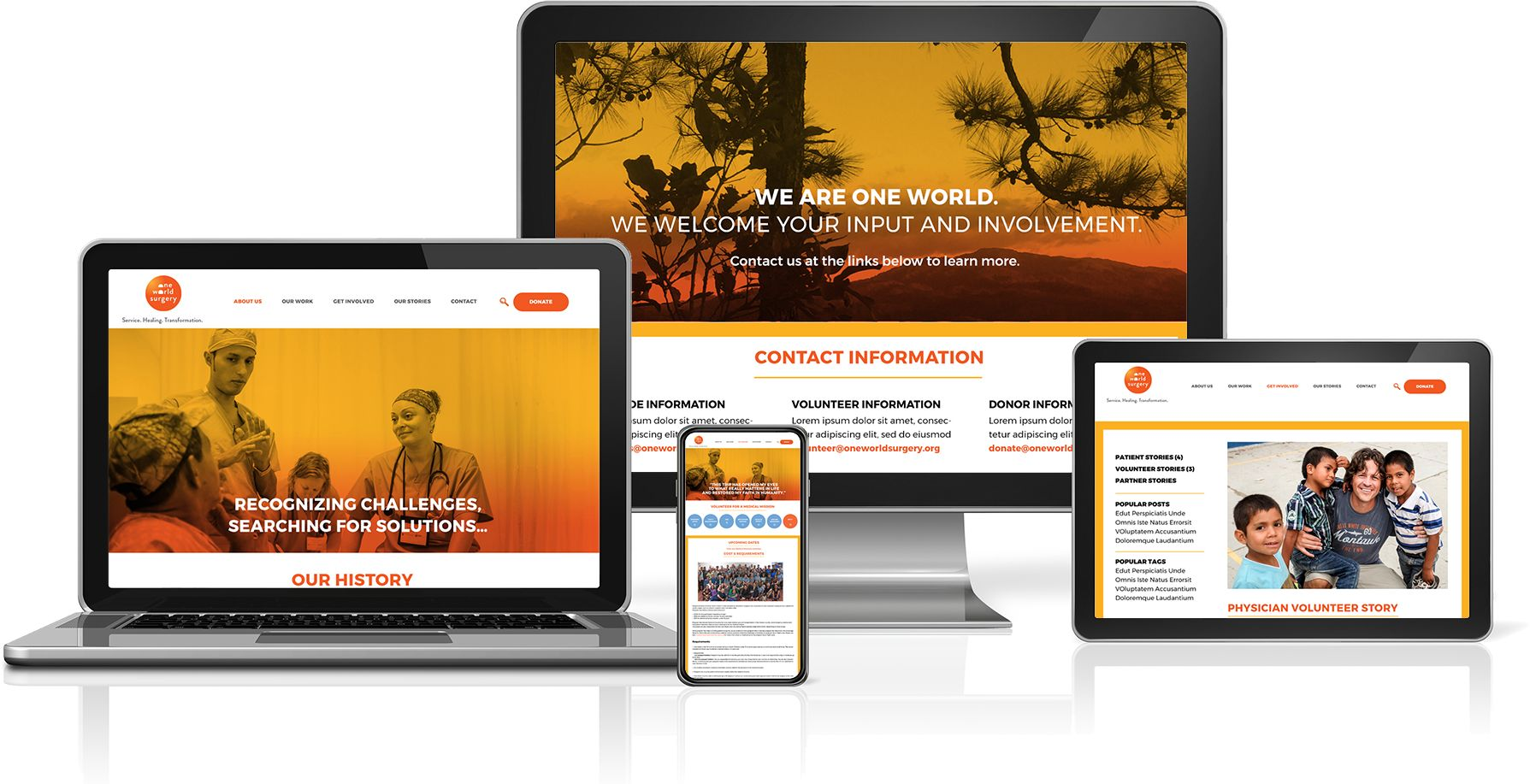 One World Surgery website on all devices