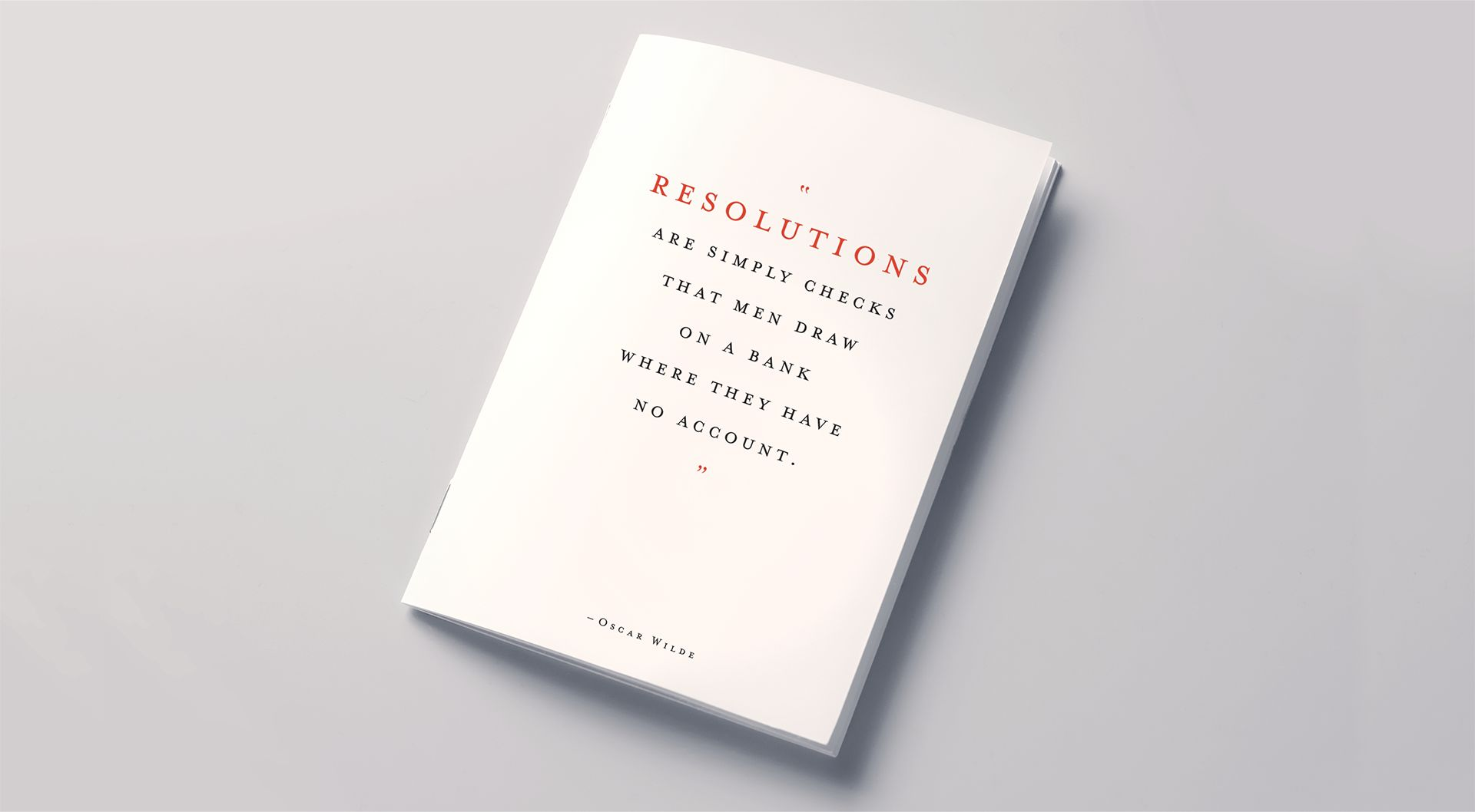 Resolutions book cover