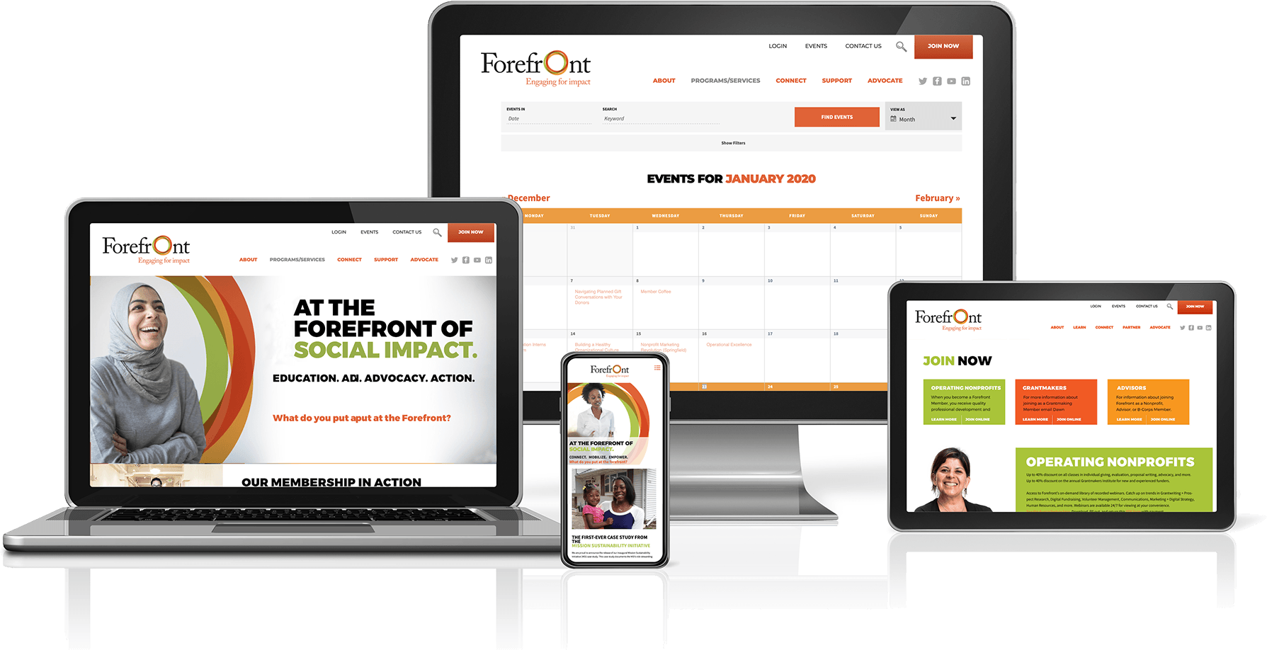 Forefront website on multiple devices