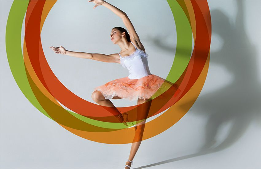 Forefront ballet dancer